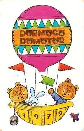 Bears, hot air balloon, 1979