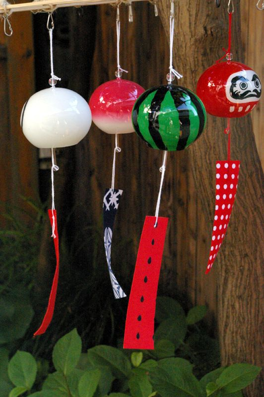 Fuurin (wind chimes), blowing in the wind.