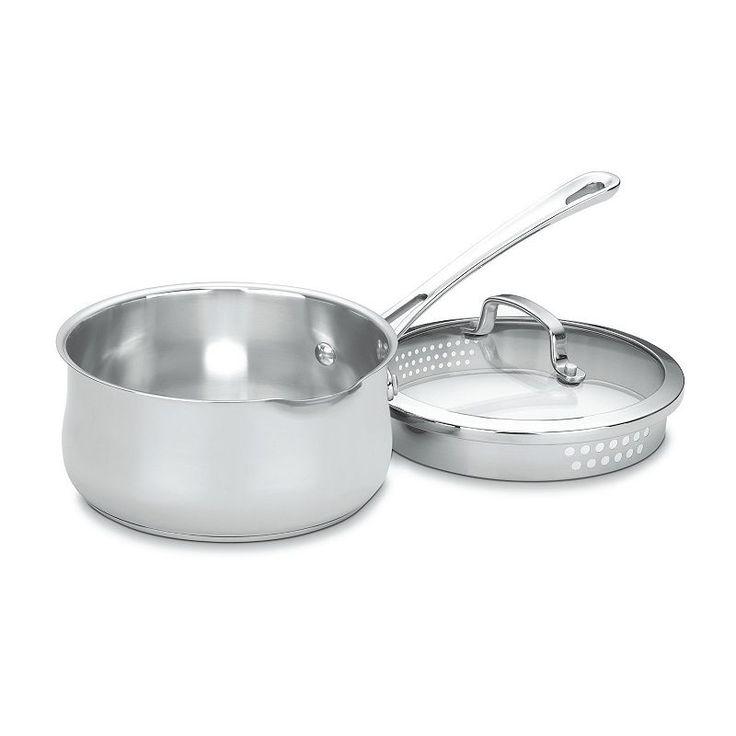 Cuisinart Contour 2-qt. Stainless Steel Pour Saucepan, Grey