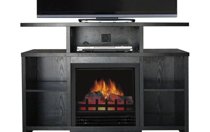 """Media Console Electric Fireplace Heater 50"""" Wooden TV Stand Entertainment Center"""