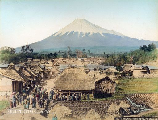 1890年代 静岡県の泉からの眺め ; A View from Izumi Shizuoka 1890s.