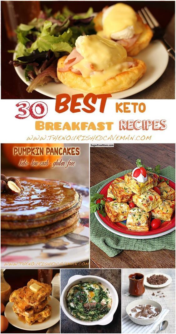 A roundup of the 30 best keto breakfast recipes to start your day just right! By The Nourished Caveman