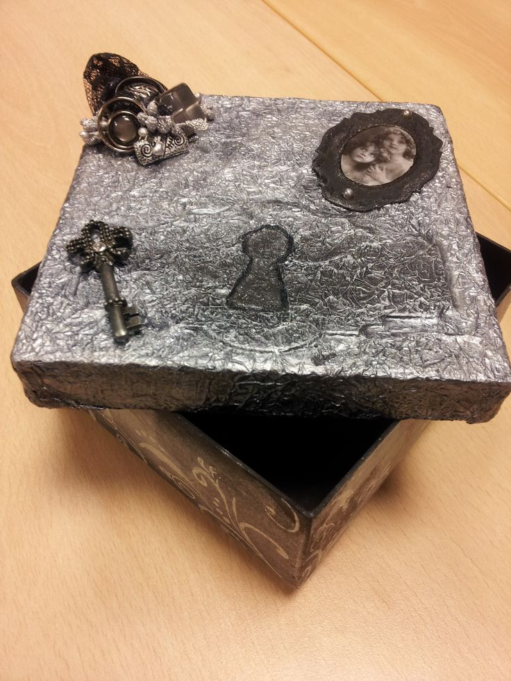 Vintage doos van aluminiumfolie