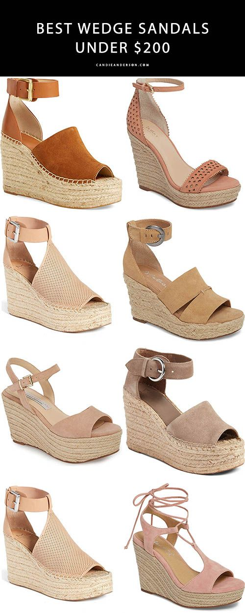 32bc87c89a45 The best wedge sandals under  200 for spring and summer 2018     Candieanderson.com