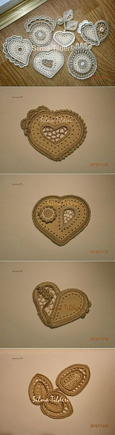 Замечательные мотивы для сочетания кожи (ткани) и ирландского кружева