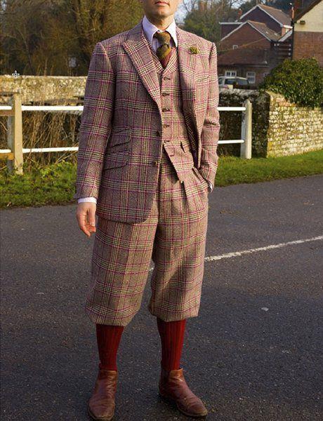Tweed suit with plus fours from Dashing Tweeds. Photograph: Dashing Tweeds