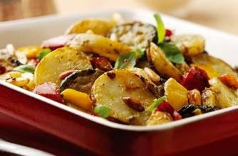 Mediterranean potato and vegetable bake - 150 family dinners under 500 calories