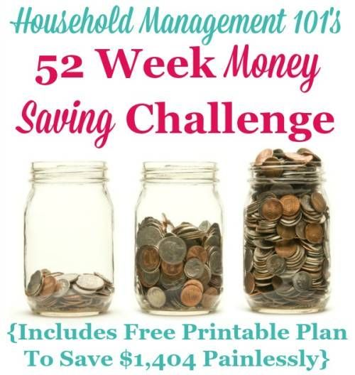 52 week money challenge  save for a better year