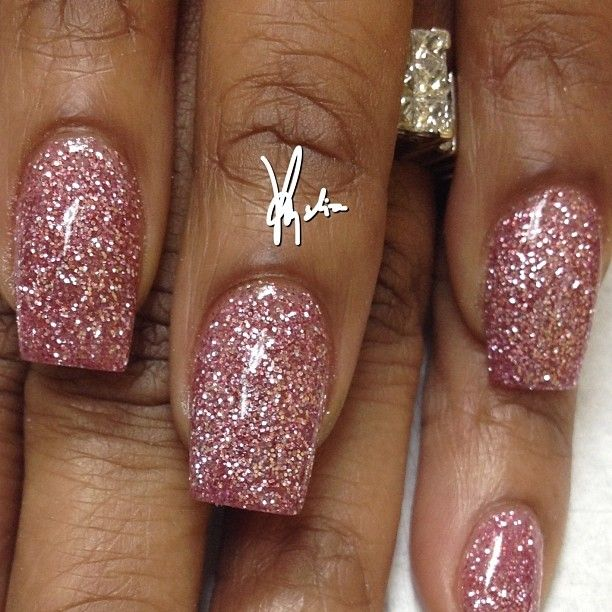 Tammy Taylor colored acrylic over natural nails.. Baby pink and candy pink glitter acrylic over entire nail.. ALL FREEHAND and no drills used. .. #tammytaylornails #nails #nailinc #nailsdid #nailshop #art #trueartist #nailsart #pretty #nashville #nailgasm #notpolish  #lovethese #nailart #acrylic #acrylicnails #freehand