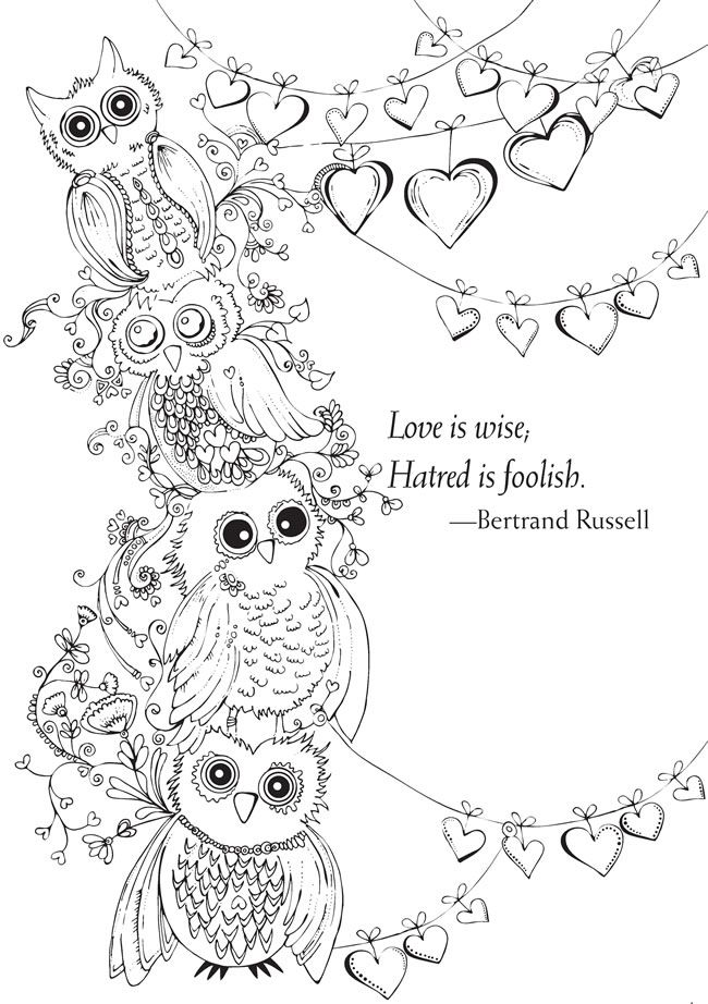 welcome to dover publications from bliss love coloring book your passport to calm owl coloring pageskids