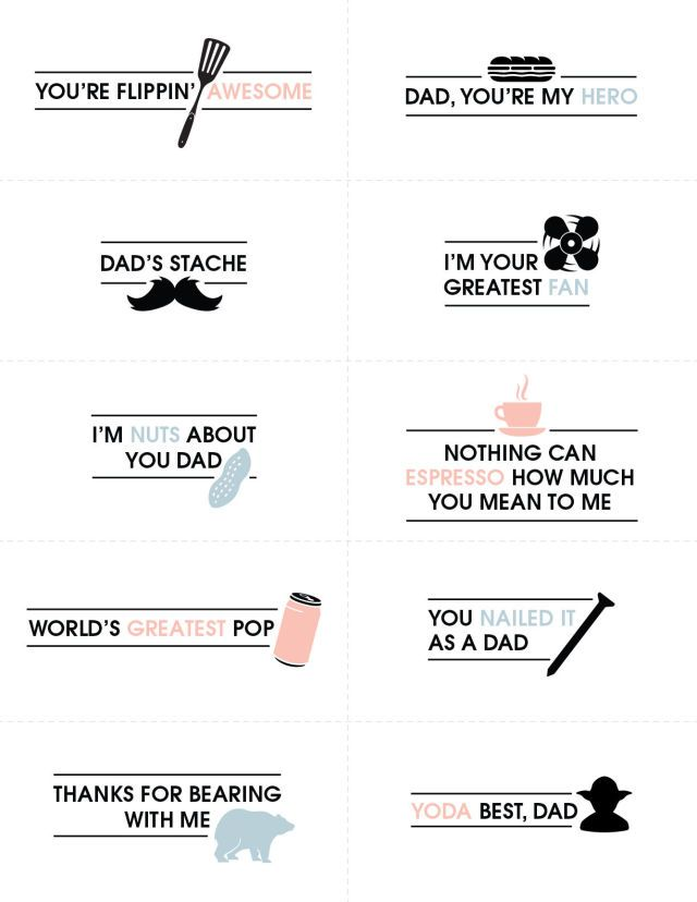 10 Father's Day Crafts Printables With Brilliant Puns