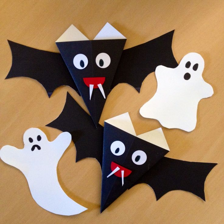 halloween basteln mit kindern halloween bat ghost halloween pinterest. Black Bedroom Furniture Sets. Home Design Ideas