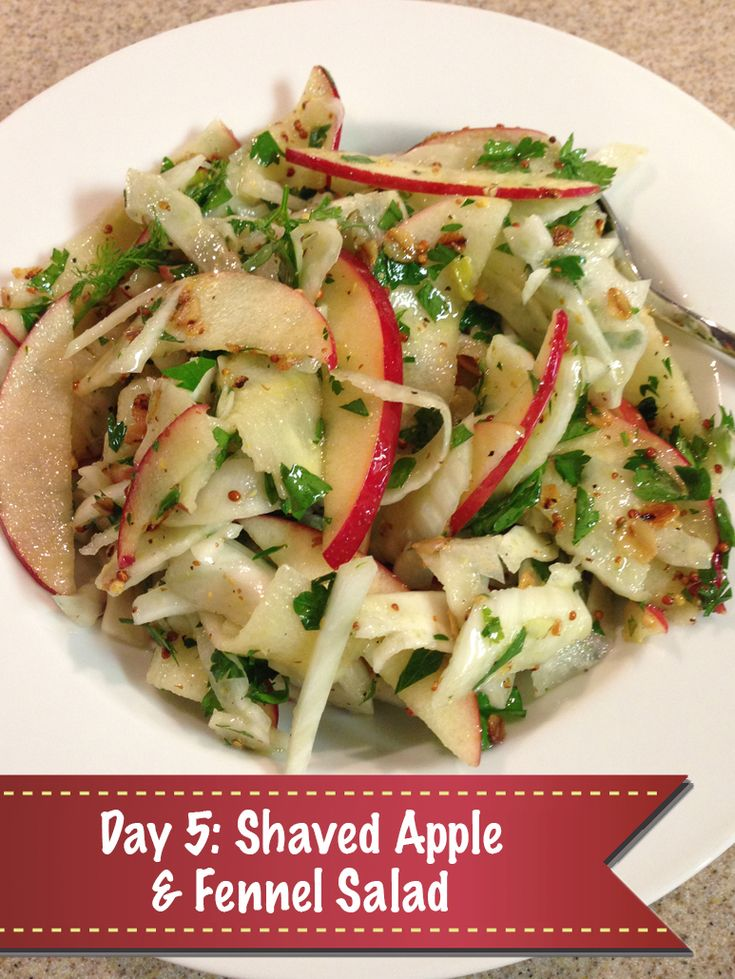 ... Days of Christmas Day 5: Shaved Apple & Fennel Salad with Crisp Oats
