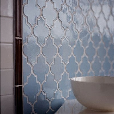 love this tileIdeas, Back Splashes, Blue Tile, Kitchens Backsplash, Master Bath, House, Tile Bathroom, Tile Pattern, Moroccan Tiles