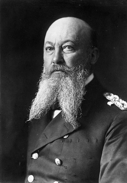 Admiral Alfred von Tirpitz. If only the Imperial German fleet could've been as powerful as this man's forked beard!