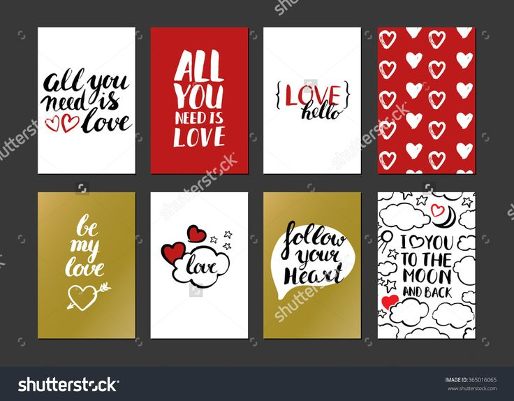 Happy Valentines Day. Set Of Valentines Greeting Card. Modern Calligraphy. Hand Drawn Inscriptions And Elements. Handwritten Brush Lettering With Rough Edges. Love And Heart. Ink Brush Hand Lettering. Stock Vector Illustration 365016065 : Shutterstock