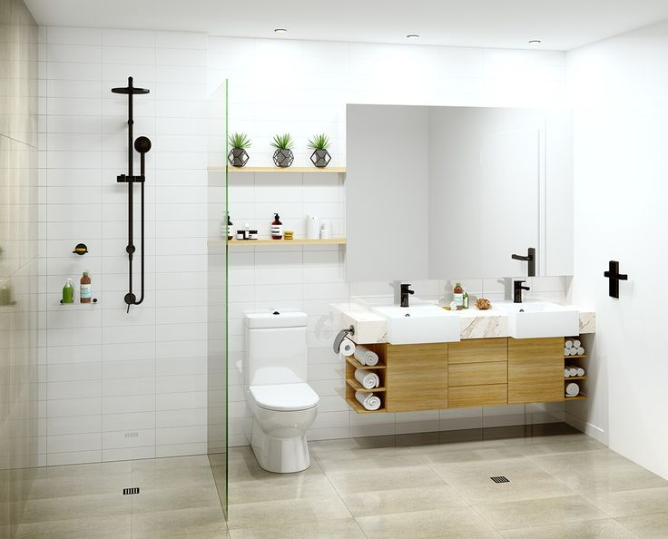 bathroom and roof terrace on Behance