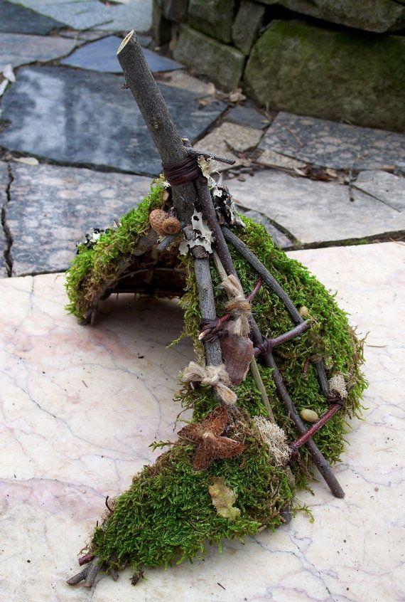 Fairy House Garden Fairy Hut Woodland Fairy House by MiscKDesigns, $35.00