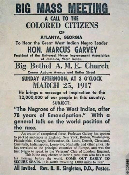 Marcus Garvey the root of rastafari.