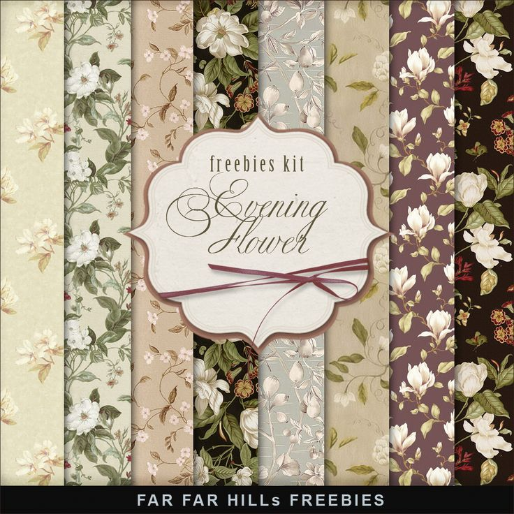 Far Far Hill - Free database of digital illustrations and papers: New Freebies Kit of Flower Background