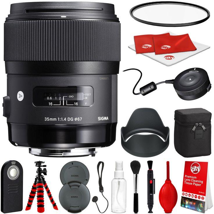 Sigma 35mm f/1.4 Art DG HSM Lens for Canon DSLR Cameras w/ USB Dock Global Vision Bundle