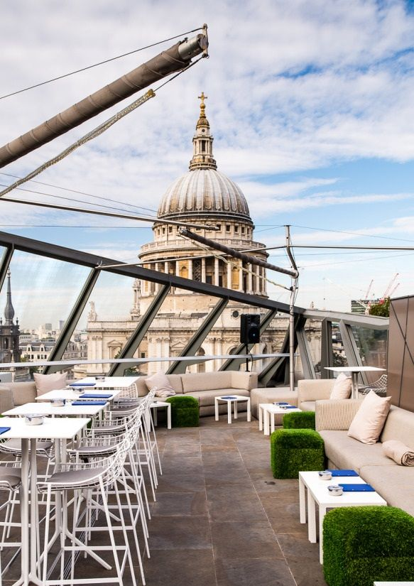Madison London rooftop bar overlooking St Pauls Cathedral