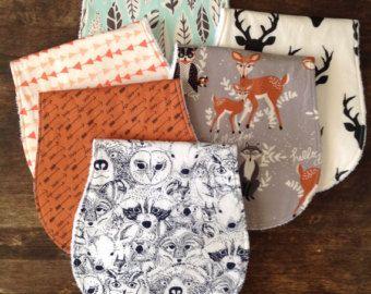 Burp Cloths-Burp Cloth Boy-Burp Cloth Set-Deer Head by bbsprouts