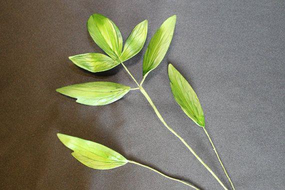PEONY LEAVES Gumpaste Peony Leaves Green by SweetPetalsbyLisa, $10.00