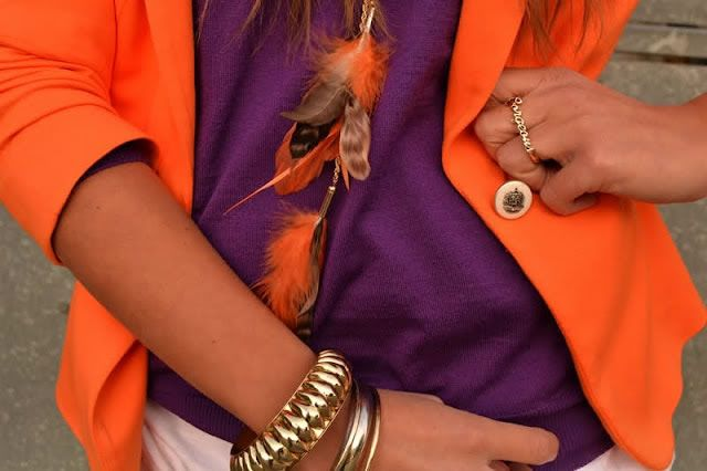 Pantone's Color of the Year: Tangerine tango stays strong through fall.  Versatile pairing options - I will definitely be wearing it with deep plum this fall!