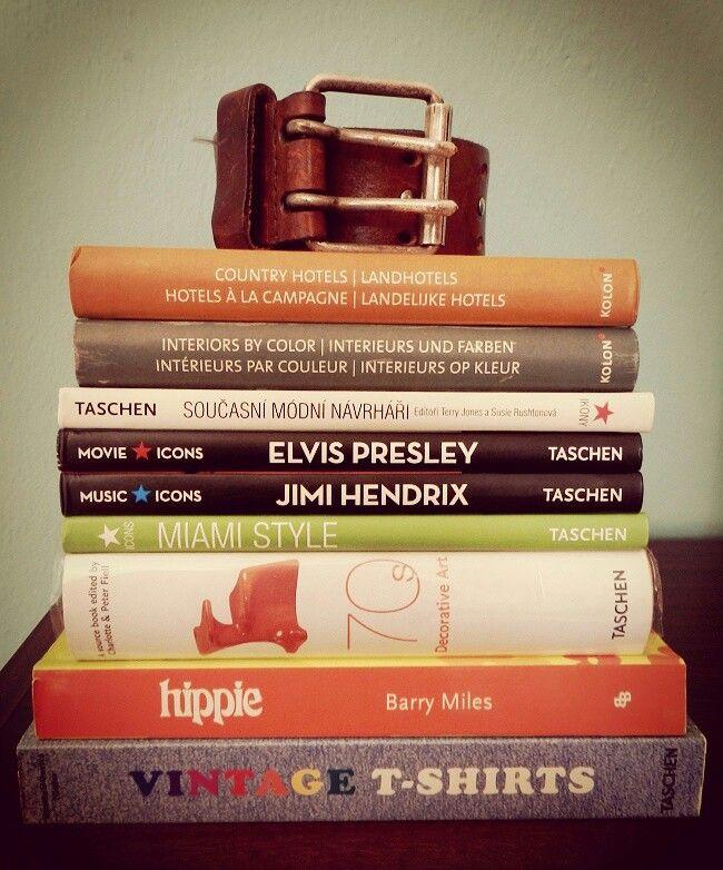 Books ( Elvis Jimi Hendrix  Taschen hippie 70s miami ) by blog :)