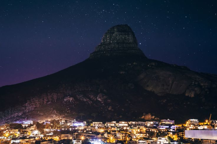 Cape Town by Adam Rozanski on 500px #africa #bantry bay #cape town #city #landscape #lights #lions head #long exposure #mountain #nature #night #south africa #stars #travel #clifton breach