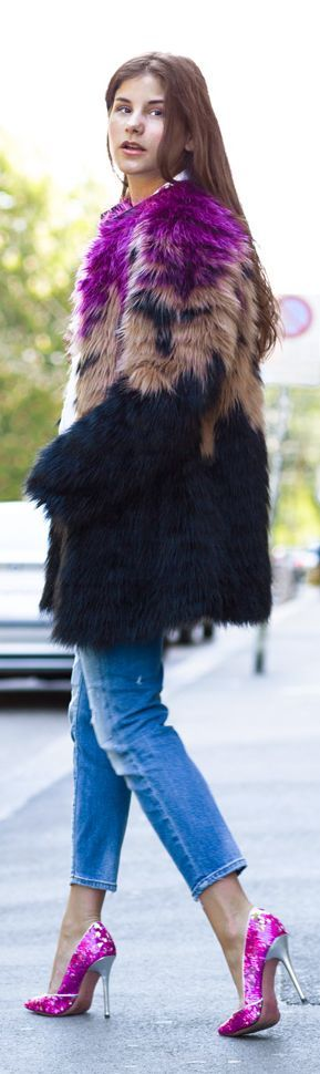 Multicolored fur- follow us www.helmetbandits.com like it, love it, pin it, share it!
