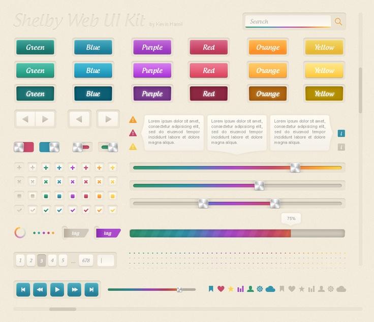 Shelby Web UI Kit PSD