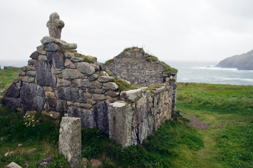 ST HELEN | St Helen's Oratory | Cornwall: 'Ruined chapel looks out over the sea' ✫ღ⊰n