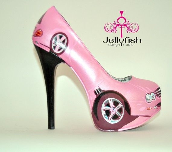 These one of a kind hand painted pumps go perfect with any outfit.  Designed by Studio jellyfish and hand painted with care and love.  These pumps are sure to make you the life of any party!