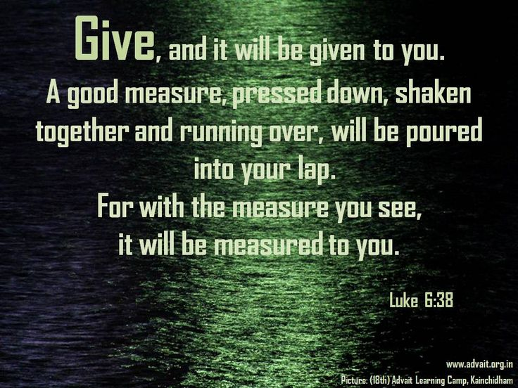 For with the measure you see, it will be measured to you. ~ Bible (Luke 6:38) #ShriPrashant #Advait #bible #jesus #god #give #sing #love  Read at:- prashantadvait.com Watch at:- www.youtube.com/c/ShriPrashant Website:- www.advait.org.in Facebook:- www.facebook.com/prashant.advait LinkedIn:- www.linkedin.com/in/prashantadvait Twitter:- https://twitter.com/Prashant_Advait