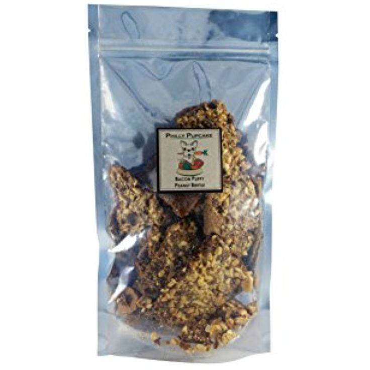 Gourmet Puppy Peanut Brittle - Bacon, 100% Gourmet Dog Treats - Made in the USA, 6 oz *** Click image to review more details. (This is an affiliate link) #DogSnacks