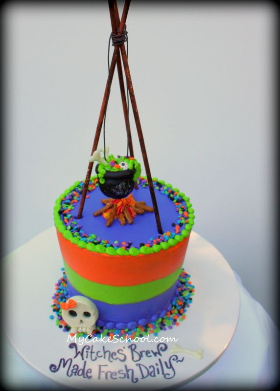 Cake Decoration Galway : Witchy Brew~ A Cake Decorating Blog Tutorial Witches Brew, Cakes and Witches