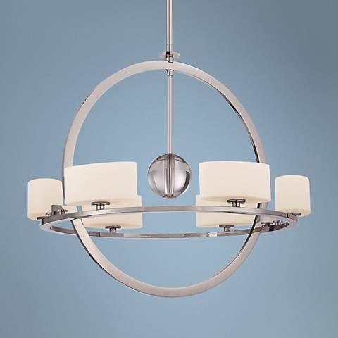 Quoizel Uptown Columbus Circle 6-Light Silver Chandelier