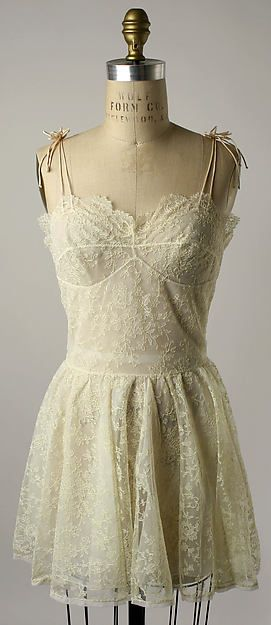 Nightgown Date: ca. 1956 Culture: Cuban Medium: synthetic Accession Number: 1976.267.3
