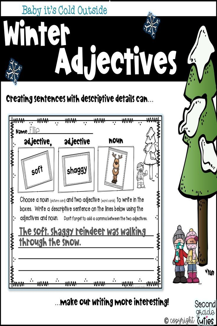 Adjectives Matching Nouns Descriptive Sentences Literacy Station Activities Adjective Words Nouns And Adjectives Literacy Stations