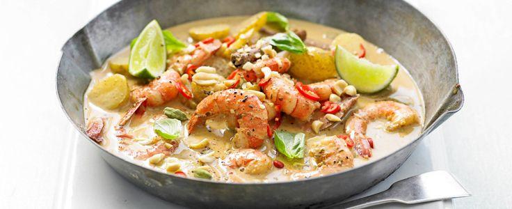 The This prawn massaman curry