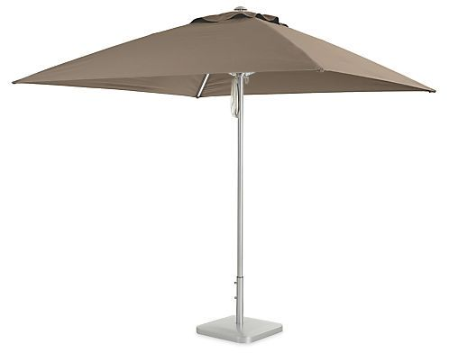 Pacifica Square Umbrella - Modern Outdoor Umbrellas - Modern Outdoor Furniture…