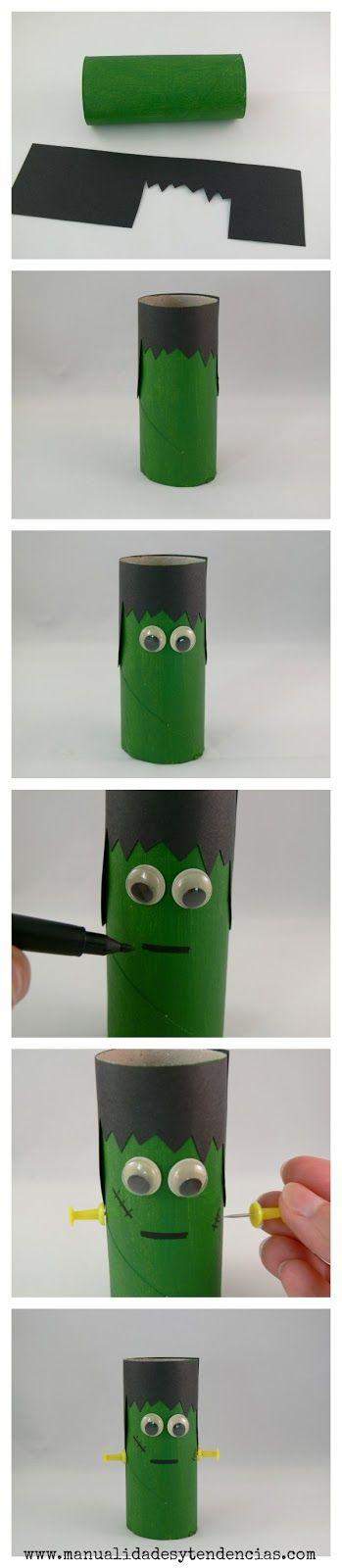 Halloween: monstruos con rollos de papel /Toilet paper roll monsters                                                                                                                                                                                 Más