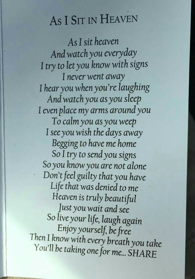 Miss you every day.... always in my heart and in my thoughts and there you'll always stay.