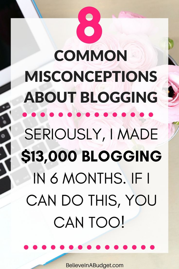 If you want to make extra money, you might want to start a blog. In this epic blog post, I'm sharing 8 common misconceptions about blogging and how fear can prevent you from going for it! Blogging is a great side hustle, and I've turned it from a part time job into a full time job. You will also learn several ways to boost your confidence and totally go for it!