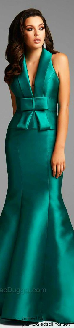 MacDuggal Couture emerald maxi dress women fashion outfit clothing style apparel @roressclothes closet ideas