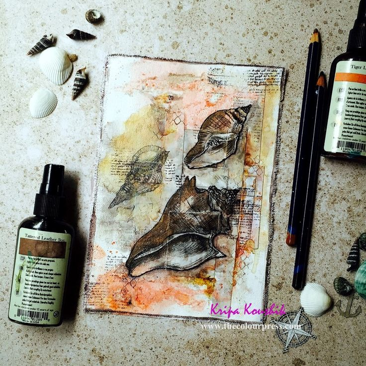 the Colour Press: Art journal illustration - Words & Paintery