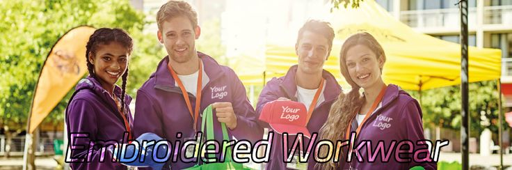 Embroidered Workwear Embroider your logo to your workwear and turn your work clothing in to a uniform.
