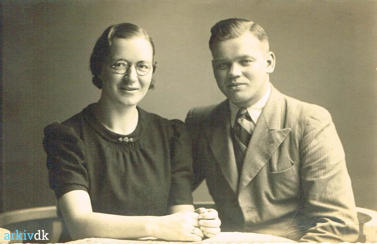 arkiv.dk   Anna og Arvid Olsson 1941.